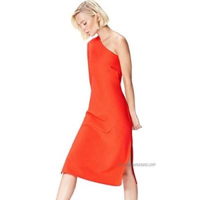 Brand - find. Women's Midi One-shoulder Dress