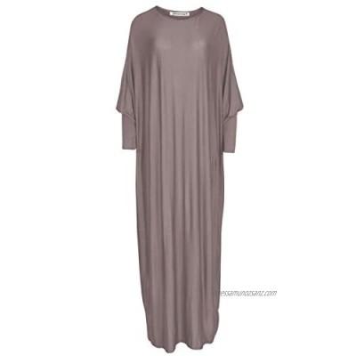 janisramone Womens Ladies New Plain Abaya Islamic Burkha Kaftan Farasha Jilbab Jersey Abayas Maxi Dress
