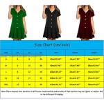 Women's V-neck buttons dresses for women summer casual strappy dress knee-length mini dress summer dress beach dresses short midi dress casual dresses casual blouse dress