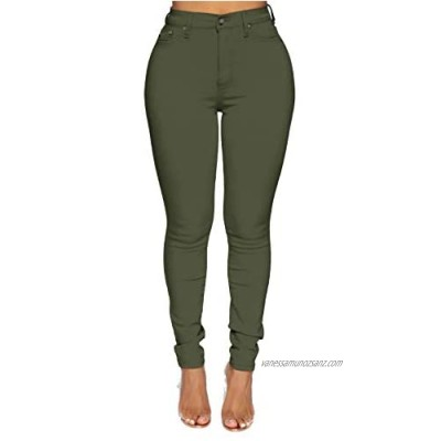 Women's High Waisted Skinny Jeans Ladies Jegging Pant Plus Size