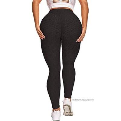 DODOING TIK Tok Leggings Women High Waisted Gym Leggings Yoga Pants Honeycomb Anti Cellulite Waffle Leggings Sports Butt Lifting Scrunch Stretch Running Workout Tummy Control Tights