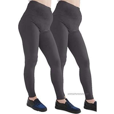 GW CLASSYOUTFIT® 2x Womens Ladies Maternity Legging Trouser Leggings Full Ankle Length Stretchy Over Bump Pregnancy Pants