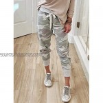 Happy Sailed Womens Drawstring Casual Long Pants Trousers with Pockets