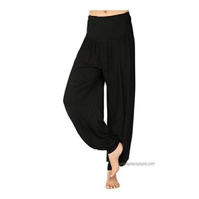 Pretty Fashion Women's Harem Trousers Ali Baba Long Ladies Girls Pants Baggy Harem Leggings Plus Size 8-22