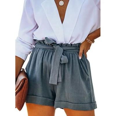 Jolicloth Womens Summer Comfy Drawstring Casual Elastic Waist Shorts with Pockets