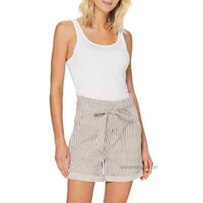 Vero Moda Women's Vmeva Hr Paperbag Cot Ps Shorts Noos Ga Bermuda