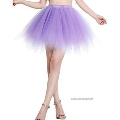 BeryLove Womens 50s Vintage Petticoat Tutu Skirt Short Puffy Fancy Adult Bubble Ballet Skirt