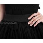 FEOYA Women's Vintage Steam Punk Rock Gothic Tutu Skirt Cocktail Party Costume Mesh High Waist Tulle Skirt