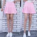 Women Girls Short High Waist A-line Pleated Skater Tennis School Mini Skirts