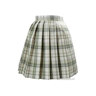 Women Girls Short High Waist Pleated Skater Tennis School Skirt Plaid Pleated Skirt A-line Schoolgirl JK Uniform Dress Multi Color