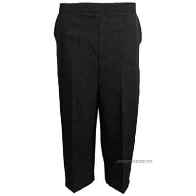 MyShoeStore Pack of 2 Ladies Womens 3/4 Three Quarter Half Elasticated Trouser Plain Capri Cropped Stretch Trousers Plain ¾ Length Pants Summer Shorts Plus Big Sizes 10-24