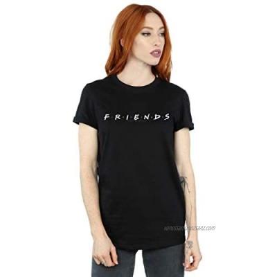 Absolute Cult Friends Women's Text Logo Boyfriend Fit T-Shirt