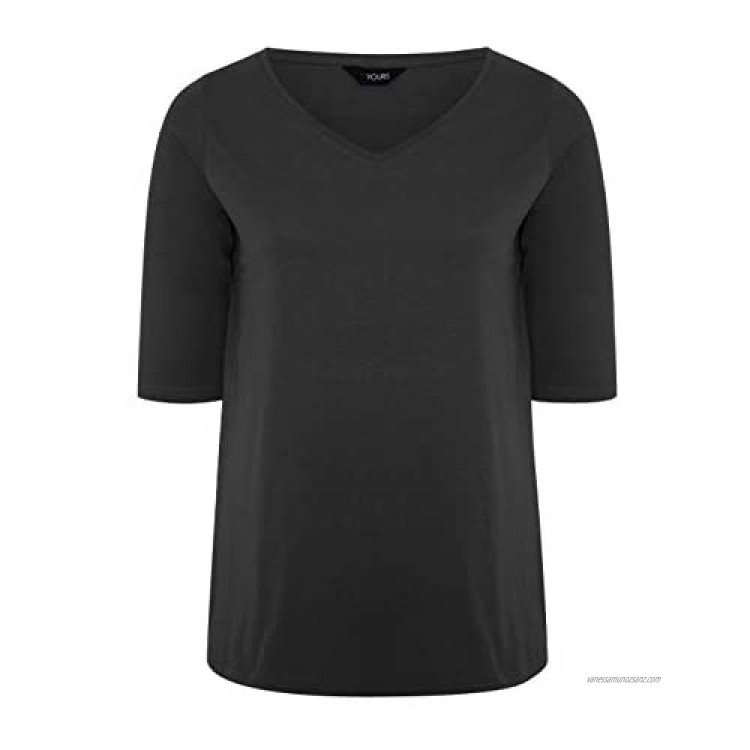 Yours Clothing Womens Plus Size Cotton Jersey Top