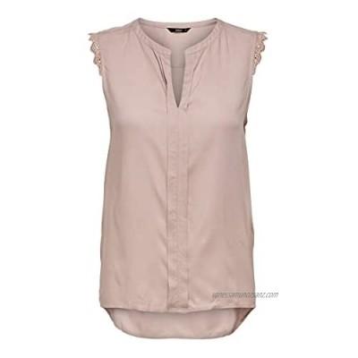 ONLY Women's Onlkimmi S/L Top WVN Noos Vest