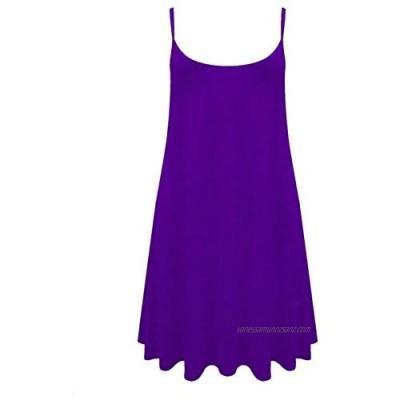 R&N FASHIONS Womens Plain Strappy Sleeveless Ladies Swing Cami Vest Top