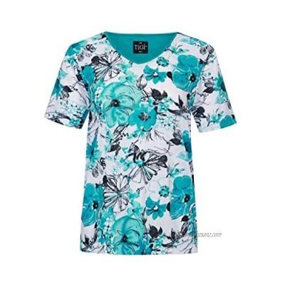 TIGI Floral Design V-Neck TOP