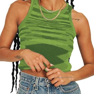 Women's Cute Graphic Print Crop Tank Top Patchwork Y2K Corset Crop Top Lace U-Neck E-Girl Cami Tank Tops Streetwear
