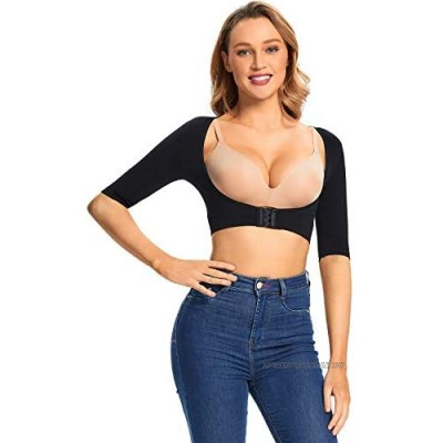 Women's Upper Arm Shaper Arm Lift Compression Sleeves Posture Corrector Back Support Slimming Crop Tops Post Surgical Arm Shapewear Slimmer Upper Sleeves Top Vest for Women