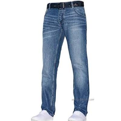 Crosshatch Men's New Embossed Techno Stone Wash Jeans - Stone Wash -36- Regular