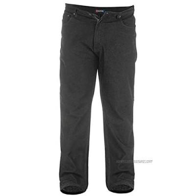 D555 Duke Big King Size Mens Stretch Fit Jeans Black Or Blue Denim Trousers