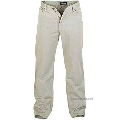 D555 Rockford Mens Comfort Big Tall King Size Casual Jeans - Stone - 42S
