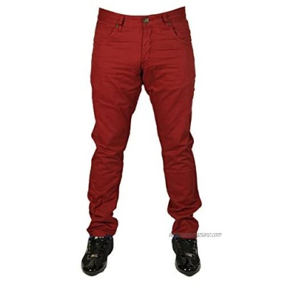 Enzo BNWT New Mens Skinny Slim FIT Chinos Style 5 Colours 28 to 44 Sale Price £12.98