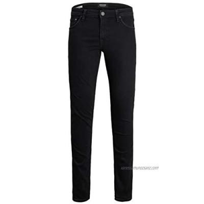 Jack & Jones New Mens Stretch Slim Fit Straight Leg Jeans Classic Basic Regular Size Denim Trousers Size Black Size 28-36 in