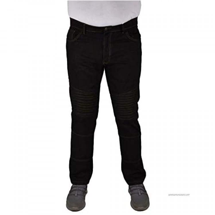 True Face Mens Biker Jeans Slim Fit Skinny Trousers Denim Fabric Cotton Pants