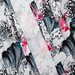 ANXWA Traditional Kimono ,Men Japanese Short-Sleeved Kimono Cardigan Yukat Coat Loose Cardigan Jacket Top Picturecolor-Medium
