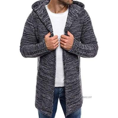 BIRAN Men's Sweatshirt Long Mumuj Sale Men Unique Elegant Slim Leisure Warm Knitted Sweater Boys Long Sleeve Autumn Winter Hooded Trench Coats Jacket Cardigan Outwear