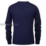 Men Knit Coats Long Sleeve V-Neck Solid Color Sweaters Outwear