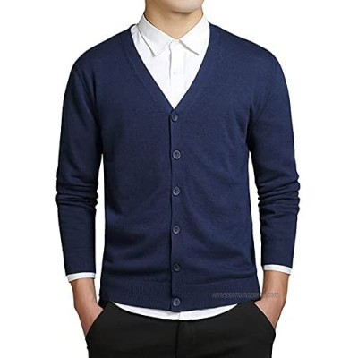 Men Sweater Long Sleeve V Neck Sweaters Loose cardigan casual autumn