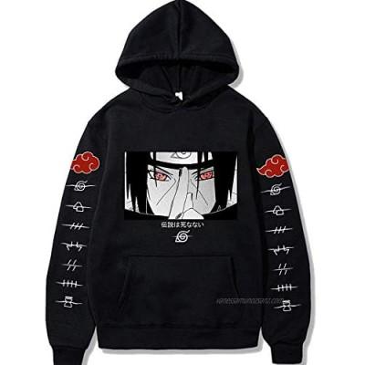 Naruto Itachi Uchiha Hoodie Pullover Sweatshirt Kids Boys Men Women Anime Long Sleeve Cartoon Printed Hoodie