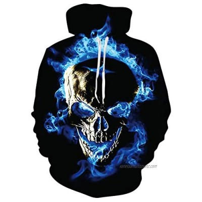 RAISEVERN Mens Funny Graphic Hoodie 3D Printed Unisex Graffiti Pullover Hoodies Sweatshirts Hooded with Drawstring Pockets