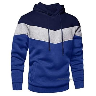 TACVASEN Men's Hoodies Pullover Sweatshirt Casual Hooded Shirt Long Sleeve Hoody Sport Hoodie with Pocket