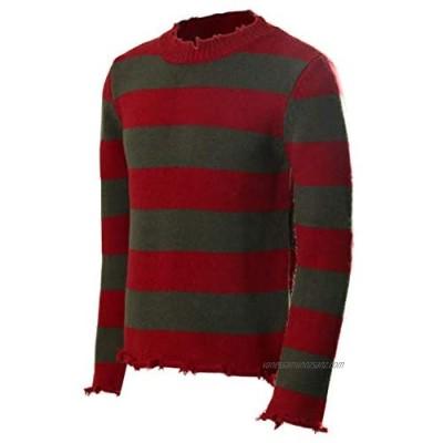 NUWIND Freddy Krueger Striped Sweater Knitted Jumper Nightmare on Elm Street Adult Cosplay Costume