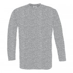 B&C Collection Men's Exact 150 Long Sleeve Single Jersey Long Sleeved T-Shirt Ribbed Collar with Elastane