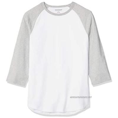 Essentials Men's Slim-fit 3/4 Sleeve Baseball T-Shirt