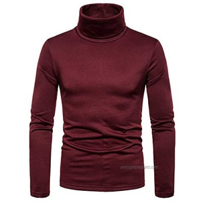 keepmore Thermal Tops for Men - Winter Warm Shirts Comfortable Long Sleeves Turtle Neck Stretch Base Layer Compression Tops
