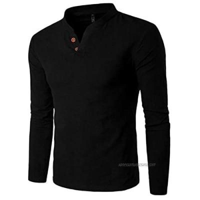 Men's Long-Sleeved V-Neck Men's t-Shirt Casual Bottoming Shirt