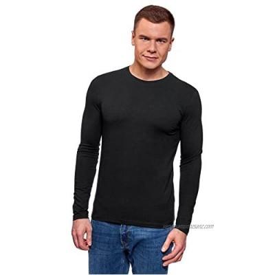 oodji Ultra Men's Long Sleeve Cotton T-Shirt