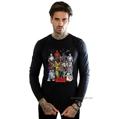 Star Wars Men's The Rise of Skywalker Character Collage Long Sleeved T-Shirt