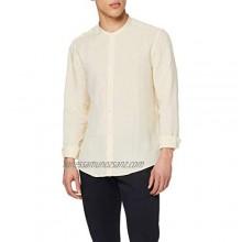 find. Men's Linen Grandad Long Sleeve Slim Fit Shirt
