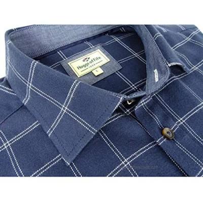 Hoggs Shetland Check Shirt - Navy/White