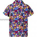 King Kameha Hawaiian Shirt for Men Funky Casual Button Down Very Loud Shortsleeve Christmas Unisex X-Mas Mix