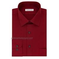 Van Heusen Men's Big Lux Sateen Stretch Solid Tall Fit Dress Shirt