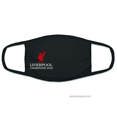Adult Liverpool Champions 2020 Face Mask Black