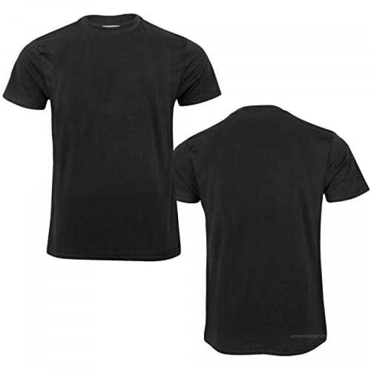 Mens Plain T Shirt Cotton Crew Neck Mens T Shirts Tee Top Regular Casual M-6XL