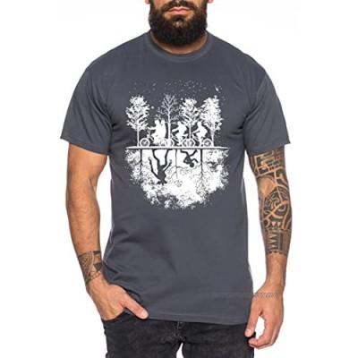 Stranger Upside Down - Men's T-Shirt Things Demogorgon Elfie Dustin Jane Hopper Upside Down tv blu-ray DVD