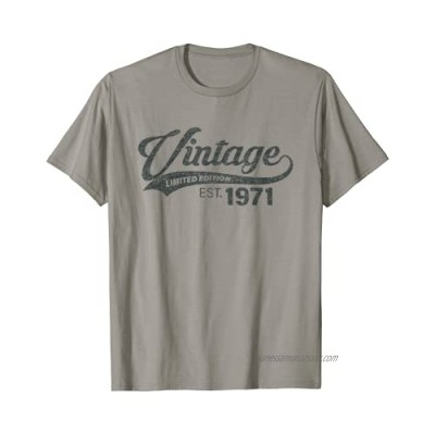 Vintage 1971 50 Years Bday Funny 50th Birthday for Men Women T-Shirt
